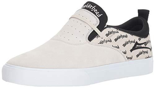 Lakai Herren Riley 2 X Motorhead, White/Black Suede, 38 EU Black Multi Suede Schuhe