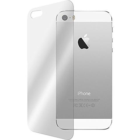 2 x Glas-Folie Rückseite klar für Apple iPhone 5 /