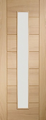 Internal Oak Palermo 1 Light Door with Clear Glass for sale  Delivered anywhere in UK