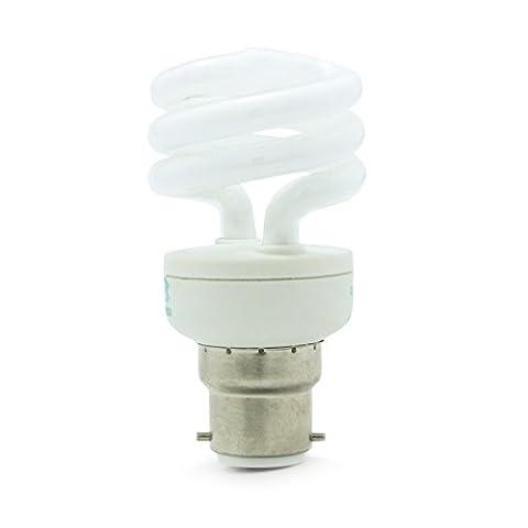 4 x BELL 11w = 60w BC B22 Bayonet Cap T2 Half Mini Spiral Lamp 6500K Daylight White Energy Saving Light Bulb