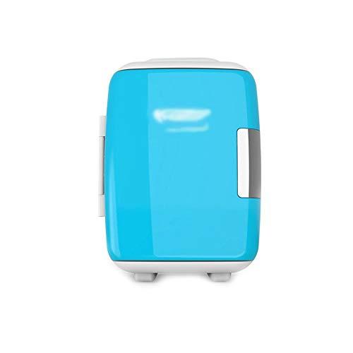 WJSWBX 4L Mini Auto/Home kleinen kühlschrank kleine Hause eintürige kühlung Micro Student schlafsaal Zwei Welt kühlschrank (Farbe: Blau)