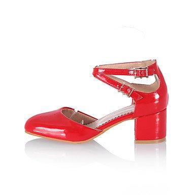 LvYuan Damen-Sandalen-Kleid Lässig Party & Festivität-PU-Blockabsatz-Andere-Schwarz Blau Rosa Rot Weiß Gold Black