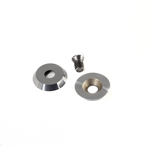 Preisvergleich Produktbild 18 mm (.709 ) Runde Carbide Cutter Einsatz für Holz Drehen, ,  1 Stück,  10 Stück,  passend für beliebtes Holz Drehen Tools rockler Volle Größe