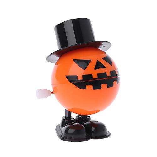 Gjyia Halloween Clockwork Springen Zylinder Kürbis Lernspielzeug Streich Spiel Liefert Orange, Schwarz ca.4.5cmx5cmx7cm