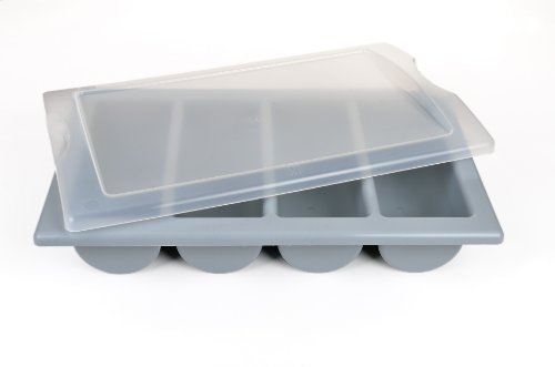 GRÄWE Empty Cutlery Box with Lid 4 Compartments Complies with Catering Standard 1/1