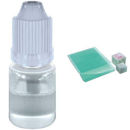 Bresser 5912300 Öl Immersion (5ml) &  Mikroskop Objektträger/Deckgläser (50x/100x)