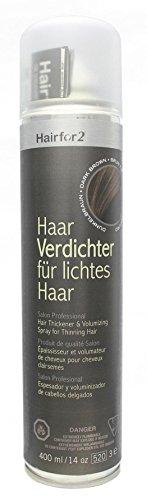 Hairfor2 Haarverdichtungsspray dunkelbraun, 1er Pack (1 x 400 ml)
