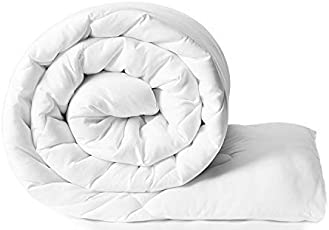 AMZ Ultra Soft Microfibre Reversible Comforter/Quilt / Duvet/Razai / Rajai/Ac Blanket (White)