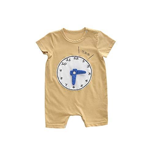 FHYER Babykleidung Babyoveralls Karikaturdruck-Uhrzeigerkurzschluß kriechende Klagekinder Abnutzung