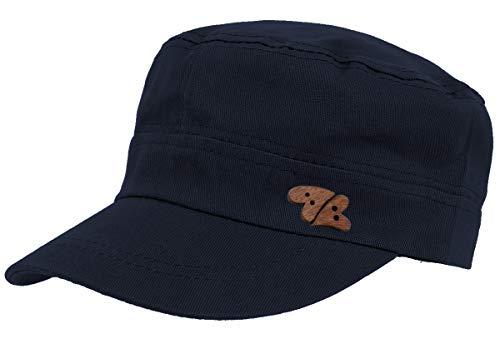 dy_mode Kappe Damen Baseball Cap Mütze Schirmmütze mit Knöpfe - K008 (K008-Nachtblau)