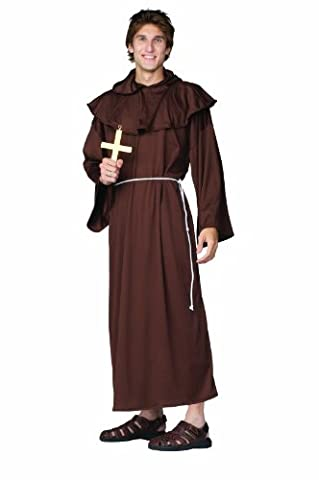 RG Costumes Monk Robe Super Deluxe Adult Costume Size Standard
