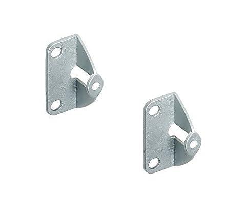 2 Stück - GedoTec® Faltschiebetür Befestigung Griffadapter zum Anschrauben an die Tür Innenseite   Falttüren-Griff für Türdicke 20 mm   Möbelgriff für Schiebetüren   Markenqualität für Ihren Wohnbereich