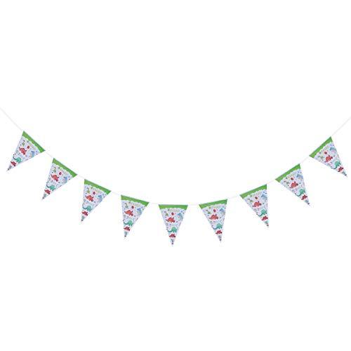 BESTONZON Besonzon Wimpelkette mit Dinosaurier-Motiv, für Hochzeit, Geburtstag, Babyparty