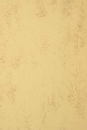 20 Blatt Dunkelbeige Marmorierter Karton 200g, Marmor-Papier DIN A4 210x297mm, Gracian Tan, ideal für Diplome, Urkunden, Zertifikate, Speisekarten, Scrapbooking, als Briefpapier und Bastelpapier