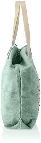 Chicca Borse 8627, Borsa a Spalla Donna, 33x39x10 cm (W x H x L) Turchese (Marina)