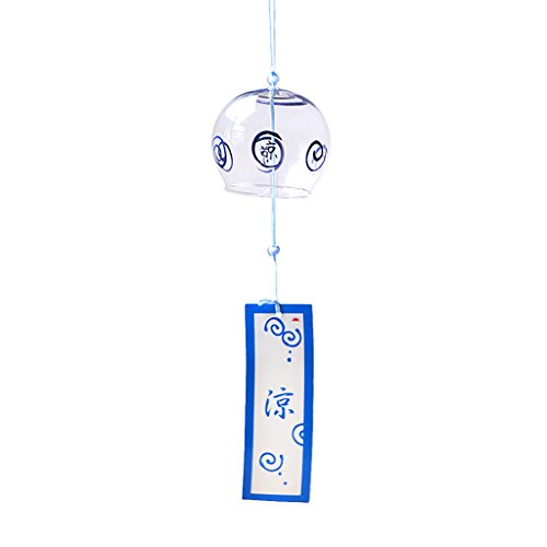 Homyl Japanischer Stil Glas Windspiel Klangspiel Fengshui Dekor, Haus Balkon Deko - 05
