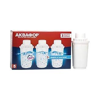 3x AQUAPHOR Wasserfilter Wechselkartusche-B100-5 = für mittelhartes Wasser. Neue Generation der Filterkartuschen - Kannenfilter Aquaphor mit AQUALEN® Filtertechnologie ! AQUAPHOR Filter - Die Alternative. 3-fache Kapazität = 300 Liter. Hochleistungs-Wasserfilter EU-Produkt / in EU produziert