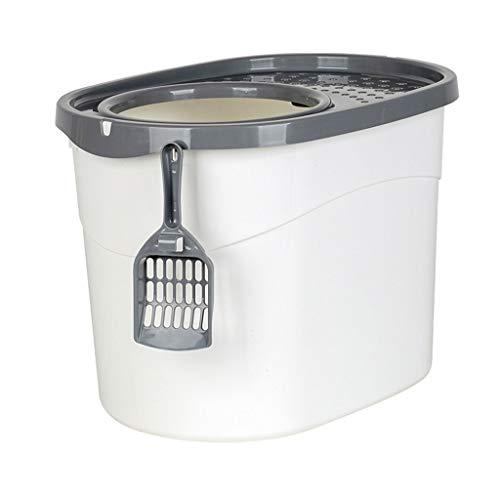 Cat Toilet Tipo di Ingresso Superiore Contenitore per lettiere Grande Completamente recintato Copertura Superiore per WC per Gatti Che perde la Sabbia Forniture per Animali Nuovi Toilette per Gatti