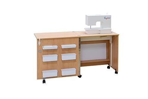 Comfort 1| Nähmaschine Schrank Tisch | (Beech Ellmau)