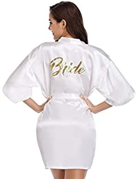 Vlazom Bride Bridesmaid Robes Satin Bridal Party Robe Dressing Gown 035da5a00