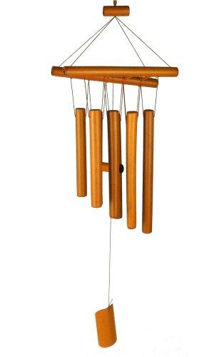 Gardeningwill 100% fait main Feng Shui 61 cm Carillon en bambou avec une échelle sur le dessus