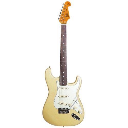 Guitarra eléctrica vintage SX SST62 en blanco