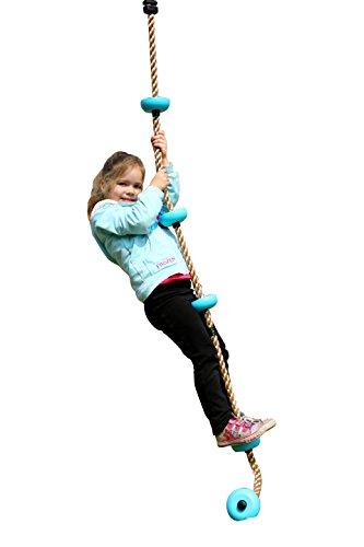 Eggdel cuerda de escalada para los 1,8 millones de niños con usos múltiples Nodo plástico de carga máxima de 70 kg Azul
