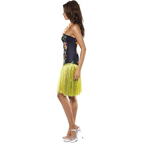 Aloha Damenkostüm Damenkleid Halsschmuck S 36/38 Hawaiikleid mit Blumenkette Hawaii Kostüm Damen Kleid Sommer Beach Party Outfit Strandkleid Tropen Südsee