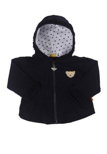 Steiff Baby - Mädchen Strickjacke Sweatjacke 1/1 Arm 6432103, Einfarbig, Gr. 68, Blau (Steiff Marine 3032)