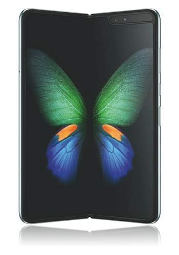 SAMSUNG Galaxy Fold 5G 512GB Space Silver [18,5cm (7,3') OLED Display, Android 9.0, Triple-Haupttelecamera, Faltbar]