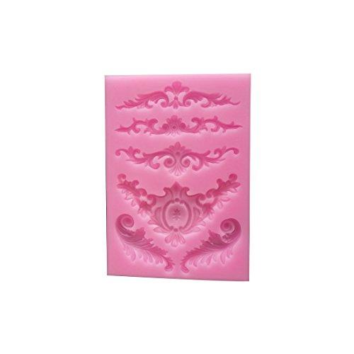 Molde silicona decoración lazos azúcar
