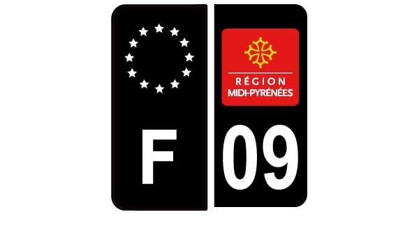 Safirmes 4 Aufkleber Für Auto Nummernschild 09 Black Edition Auto