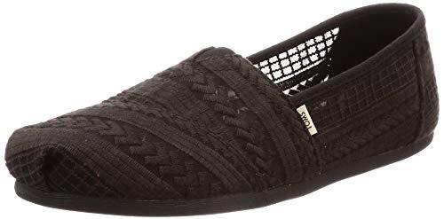 TOMS Damen 10013491 Espadrilles, Schwarz Black 000, 36.5 EU (Toms Schuhe Kinder, Größe 9)