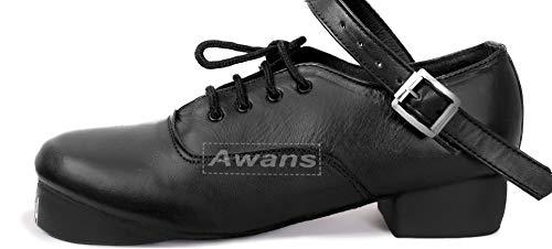 Awans , Mädchen Tanzschuhe Schwarz schwarz UK 12 Klein KinderS Gr. UK 12 Klein KinderS, schwarz