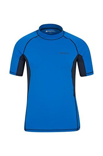 Mountain Warehouse Camiseta Térmica con Protección Solar UV para Hombre - Camiseta Térmica con Protección Solar UV UPF50+, Top Térmico de Secado Rápido, Costuras Planas Cobalto S