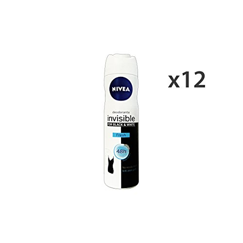 Nivea Set 12 Déodorant Spray Black & White Fresh Invisible 150 ml. 82230