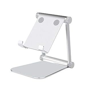 ANGGO Handyhalter Tablet Ständer mit verstellbarem Halter und Fuß, kompatibel mit Geräten von 4