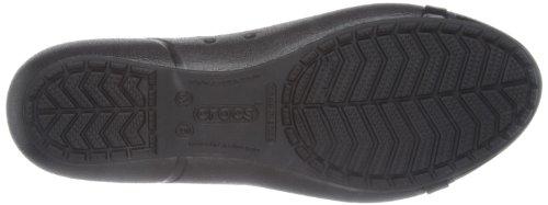 Crocs - Cap Toe Flat, Ballerine Donna Nero (Black/Black)