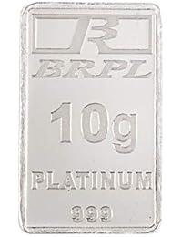 Bangalore Refinery 999 Purity Gram 10 g Platinum Bar