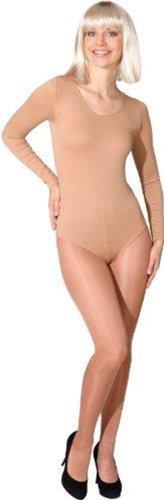 Kostüm Hautfarbe - Body in verschiedenen Farben und Größen als Verkleidung / Kostümunterzieher, Farbe:hautfarben / toast;Größe:L/XL