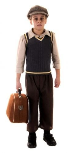 Kind Kids World War 2Evacuee Fancy Kleid Kostüm Outfit in viel 4–12yrz (Evacuee Boy Fancy Dress Kostüm)