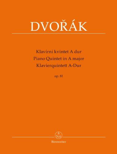 Klavierquintett A-Dur op. 81: Partitur und Stimmen