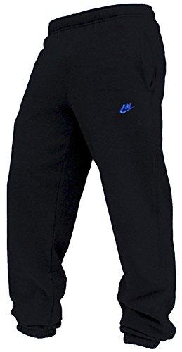 Nike Fleece Cuffed Herren Jogginghose, Schwarz/Blau, 415307-013, Größe XL (Hose Fleece Herren Nike)