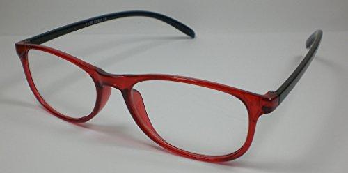 Pratica Occhiali da lettura + 2,5diop. Unisex Plastica Design4NERO/ROSSO DA LETTURA sehhilfe