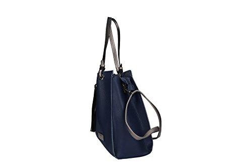 Borsa donna a spalla PIERRE CARDIN apertura zip con tracolla Blu
