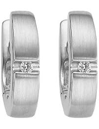 CHRIST Diamonds Damen-Creole 585er Weißgold 2 Diamant ca. 0,04 ct. One Size, weißgold