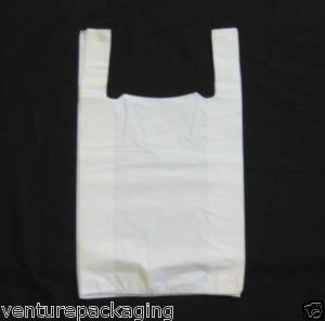 Best Saving for 3XVenture Packaging Supplies 1000 x Large White Plastic Vest Carrier Bags (11x17x21) Special
