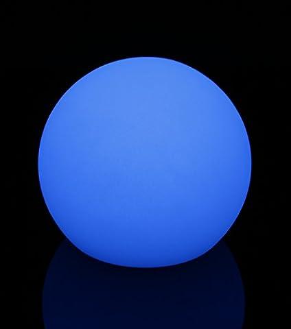 Exklusive 30 cm LED Leuchtkugel Gartenkugel multicolor RGB mit Farbwechsel und Fernbedienung aufladbar wasserfest Innen Außen IP65 Leuchtball Kugelleuchte