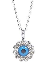 Remi Bijou - Colgante (plata), diseño de ojo turco, color azul