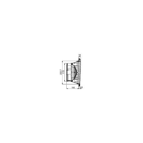 Schneider NSYCVF300M115PF Climasys-Lüfter IP54, 300M³/H, 115V, mit Ausgangsgitter und Filter G2 115v Lüfter